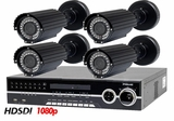 HD-SDI-4XIR High Definition Full HD 1080p 4 Camera Long Range Night Vision CCTV System for Outdoor Applications