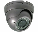 "LTS CMT2063B 1/3"" CCD 600 TVL 2.8 ~ 12mm Varifocal Lens 35 PCS IR LEDs Weather-Resistant Vandal-Resistant DC 12V Dome Camera"