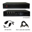OP-4504VPS 4CH Power Supply Passive Video Receiver Hub Package / 12VDC output / 110VAC input