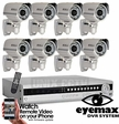 Pro-Series Complete 8 Camera System Eyemax DVR Infrared Cameras - Customize It