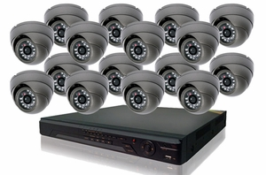 ProPlus Series PRO16PIB 16 Camera CCTV System with Eyeball Type Night-Vision Infrared Cameras