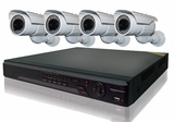 ProPlus Series PRO4PBIR 4 Camera CCTV System with Long Range Night-Vision Infrared Cameras w/ Sony Effio-E DSP and 8ch DVR