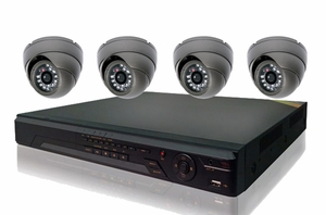 ProPlus Series PRO4PIB 4 Camera CCTV System with Eyeball Night-Vision Infrared Cameras and 8Ch DVR