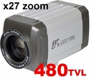 PT-7H48 480TVL / X27zoom / IR-cut Filter / RS-485 Day&Night / Auto Focus