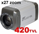 PT-7M42 420TVL / X27zoom / IR-cut Filter / RS-485 Day&Night / Auto Focus
