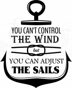 Adjust the Sails Wall Quotes Decal
