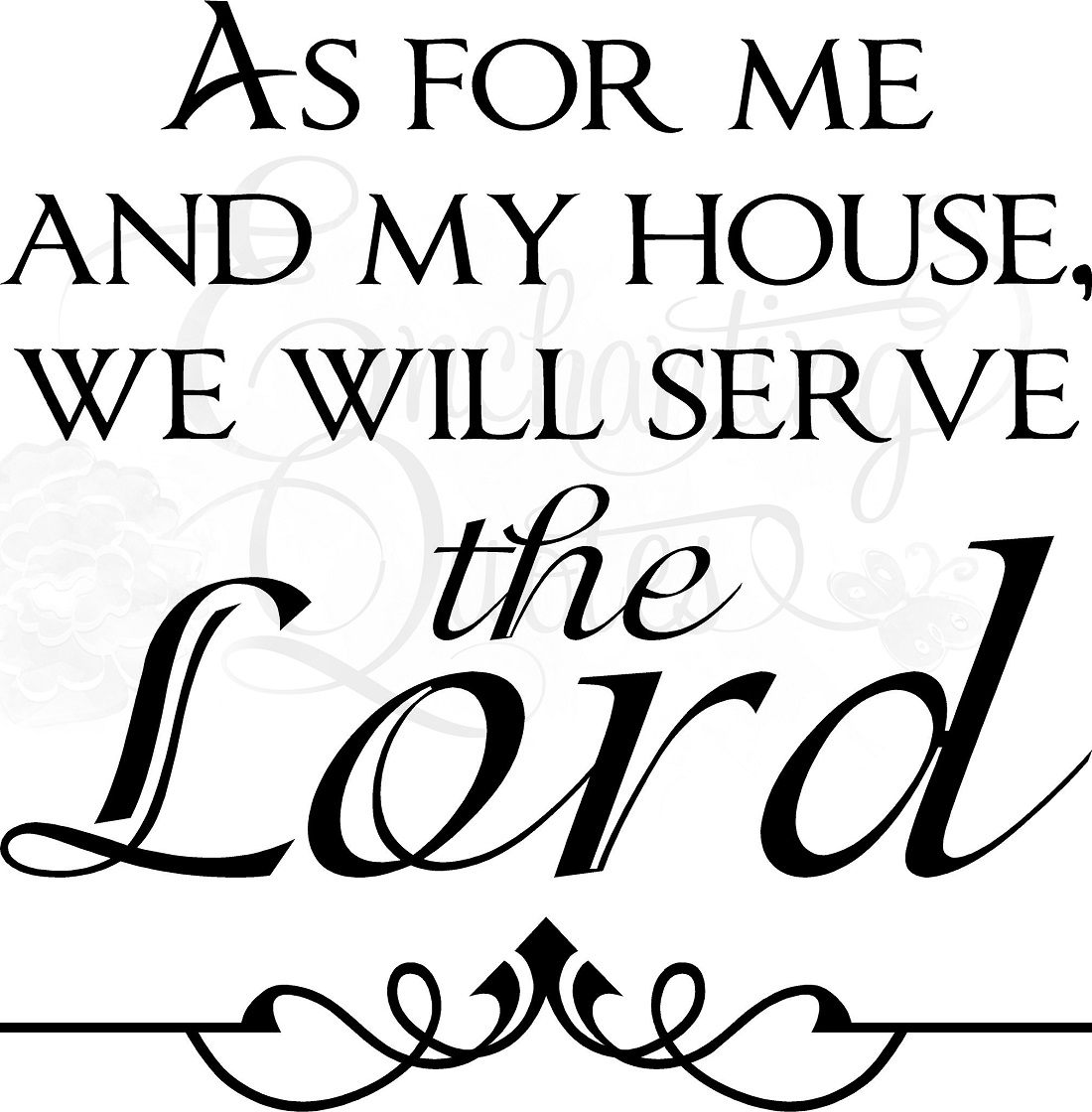 As For Me U0026 My House Christian Wall Decals