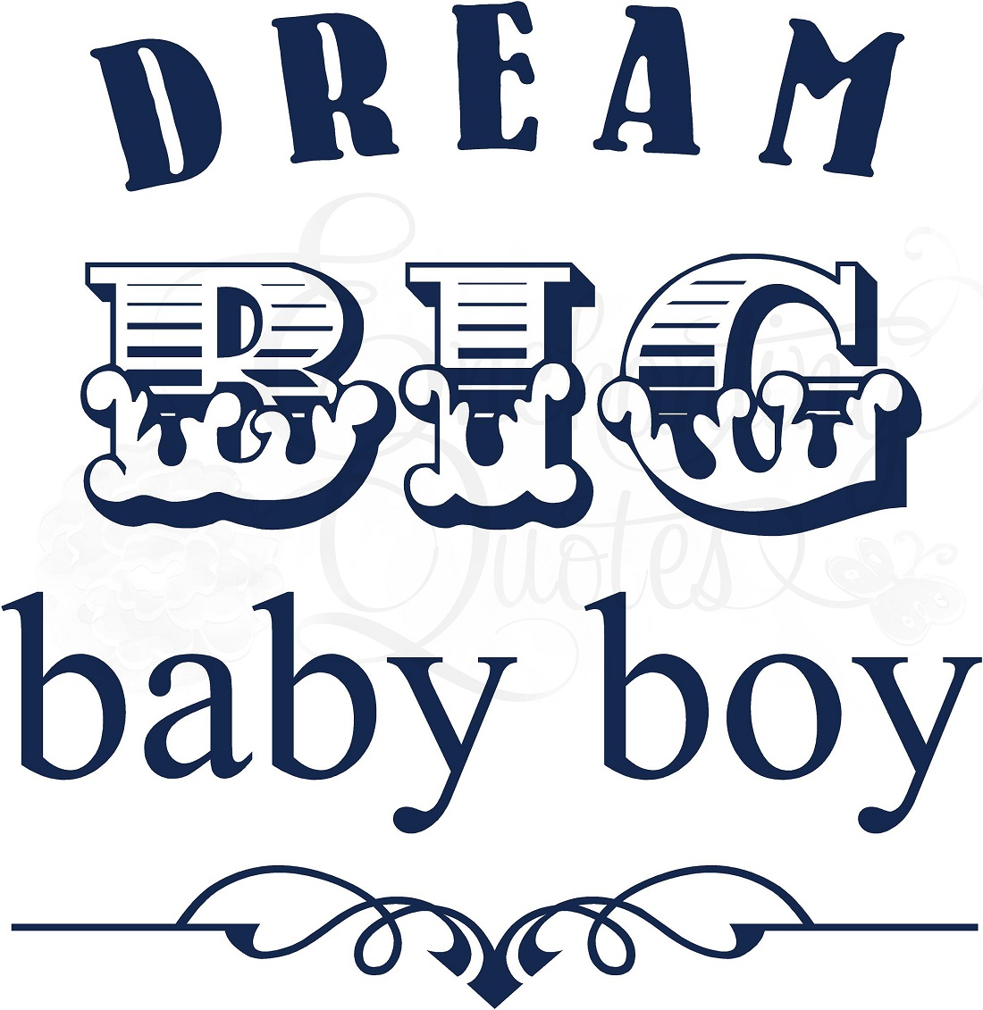 Nursery Wall Quotes Baby Quotes For Boys Dream Big