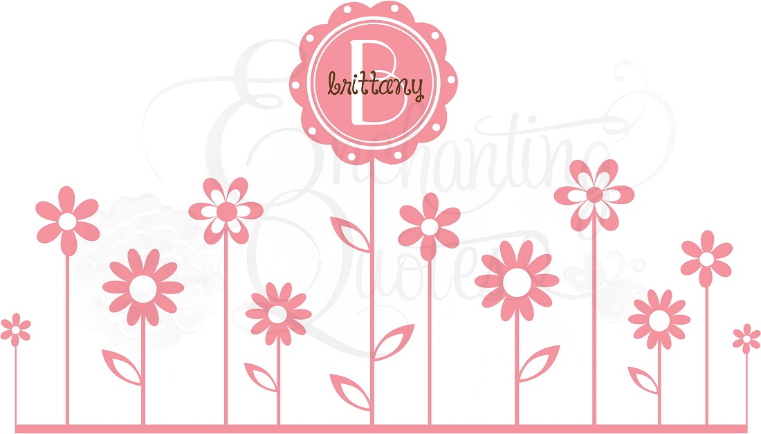 Baby Girl Quotes Quotes For Little Girls Vinyl Flower Borders