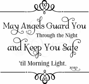 May Angels Guard You Nursery Wall Quote