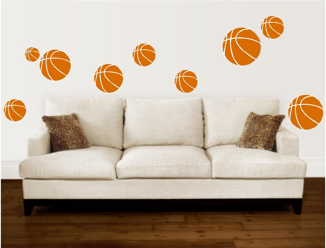basketball wall stickers vinyl wall decals for sports basketball wall stickers