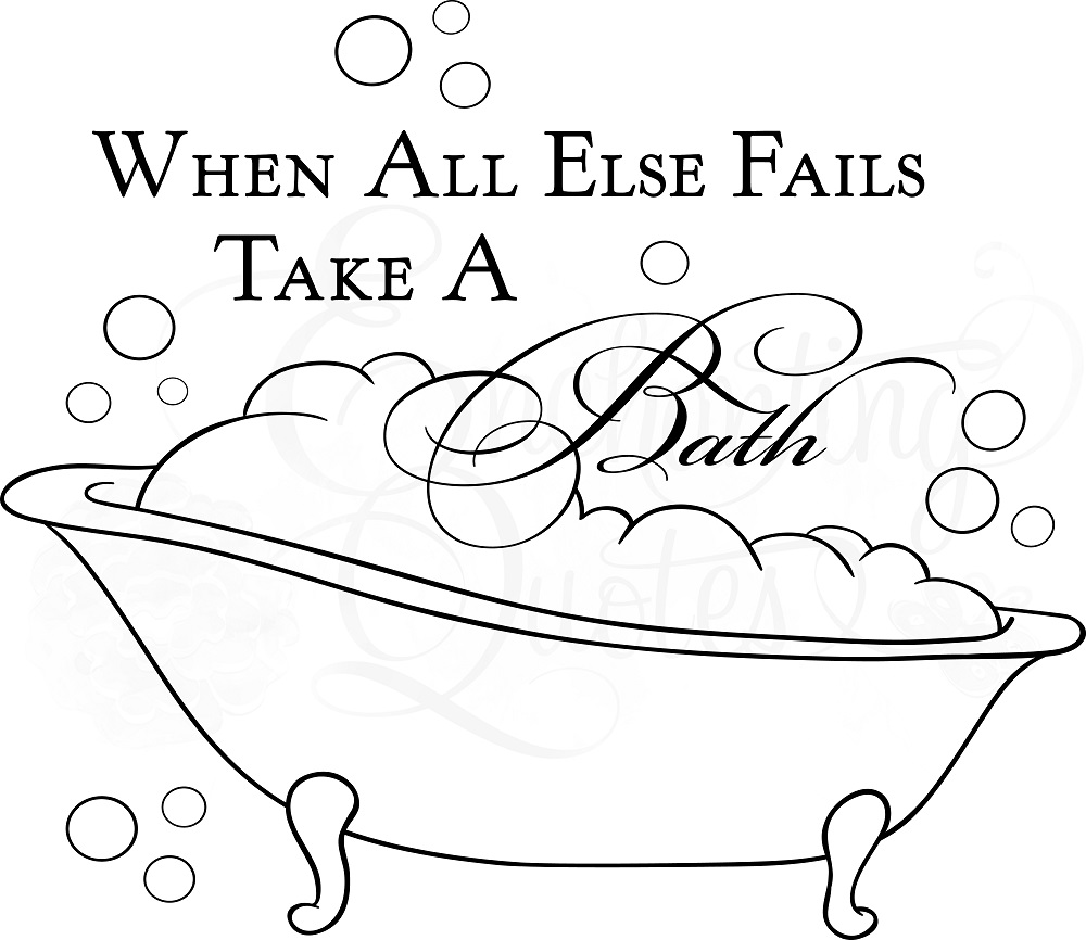 Bathroom Quotes wall quotes | bathroom wall decals - take a bath