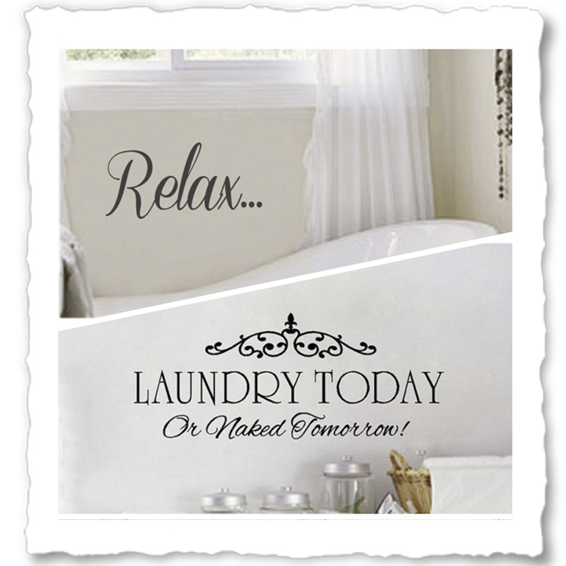 Vinyl Wall Quotes For Bathroom Laundry Room Wall Decals - Custom vinyl wall decals sayings for bathroom