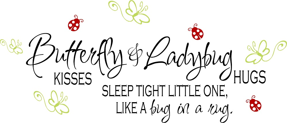 Baby Girl Quotes Vinyl Nursery Wall Quotes Butterfly Kisses