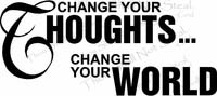 Change Your Thoughts Wall Quotes Decal