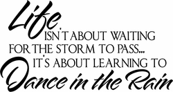 Dance in the Rain Vinyl Wall Decals