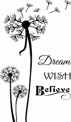 Dream Wish Believe Vinyl Wall Decals