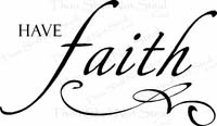 Have Faith Christian Wall Quotes