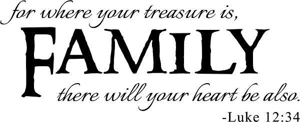Family Quote Awesome Family Quotes  Vinyl Wall Decals  For Where Your Treasure Is