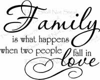 Family Is What Happens Wall Quote Decal