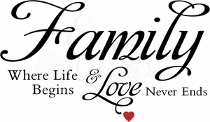 Family Quotes Vinyl Wall Decals Where Life Begins