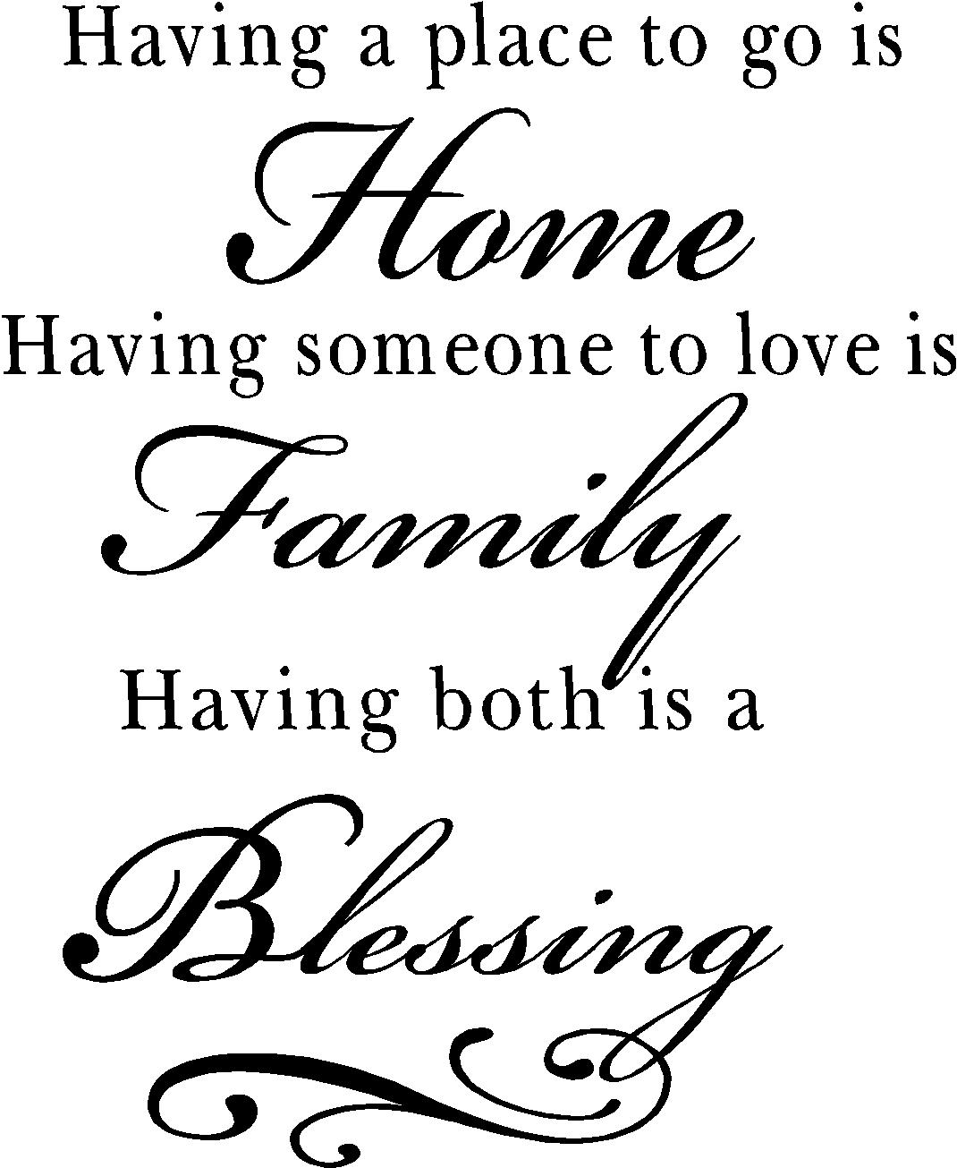 Family Quotes Family Quotes  Vinyl Wall Decals  Blessing Quotes For Home