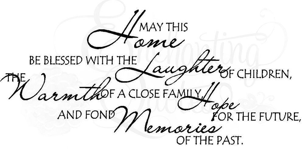 Blessed Family Quotes Magnificent Family Quotes Vinyl Wall Decals May This Home BeBlessed