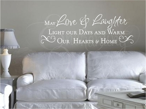 Love & Laughter Wall Quote