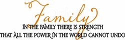 Family Strength Wall Quote