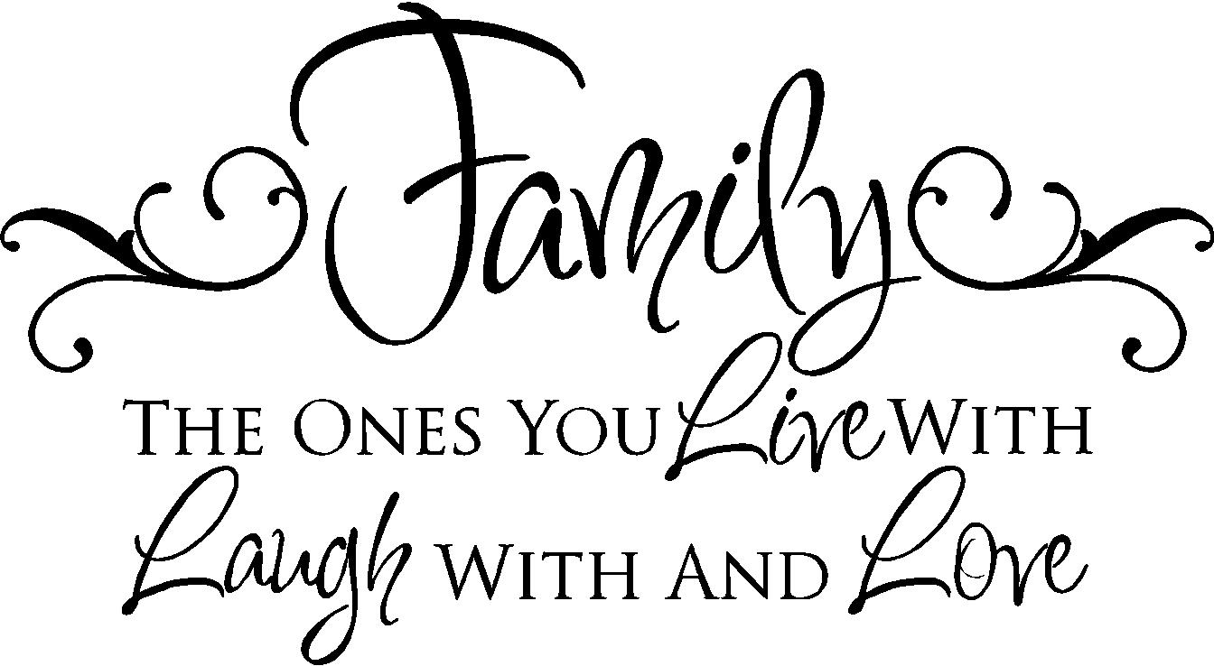 Quotes On Family Family Quotes  Vinyl Wall Decals  Live Laugh Love