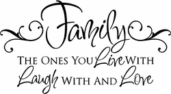 Live Laugh Love Family Decal