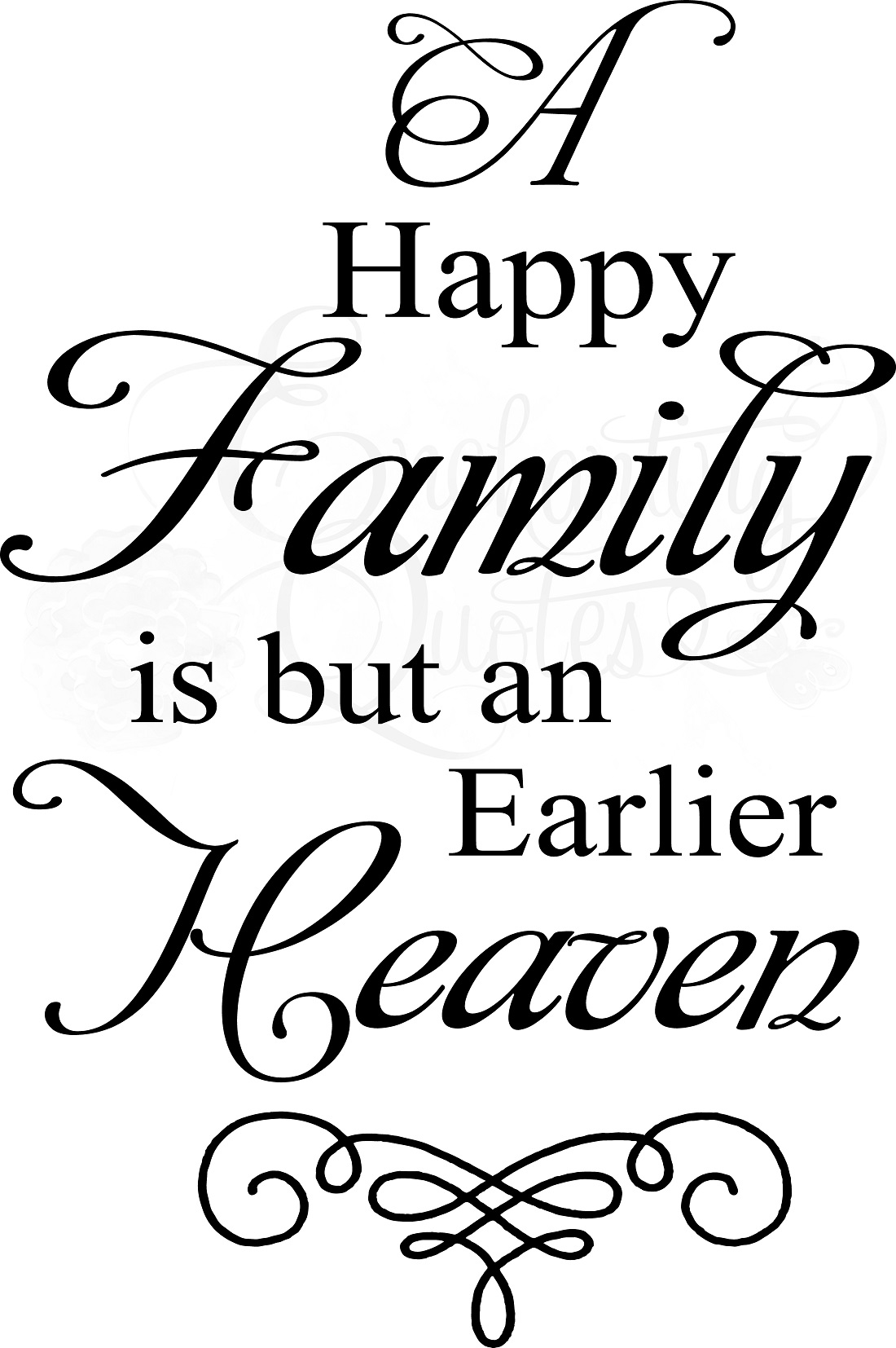 Happy Family Quotes Family Quotes | Vinyl Wall Decals | A Happy Family Heaven Happy Family Quotes