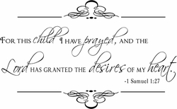 For This Child (Scroll Border) Nursery Wall Quote