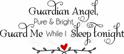 Guardian Angel Nursery Wall Quote