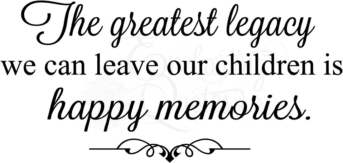Family Quotes | Vinyl Wall Decals | Happy Memories Quote