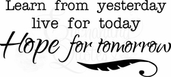 Hope for Tomorrow Vinyl Wall Decals