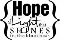 Hope Shines Vinyl Wall Decals