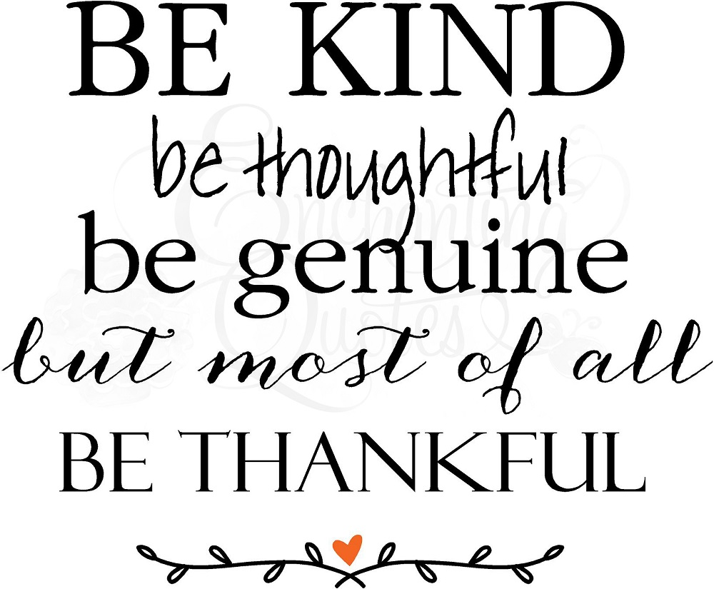 Religious Quotes | Vinyl Wall Decals, Be Kind Be Thankful