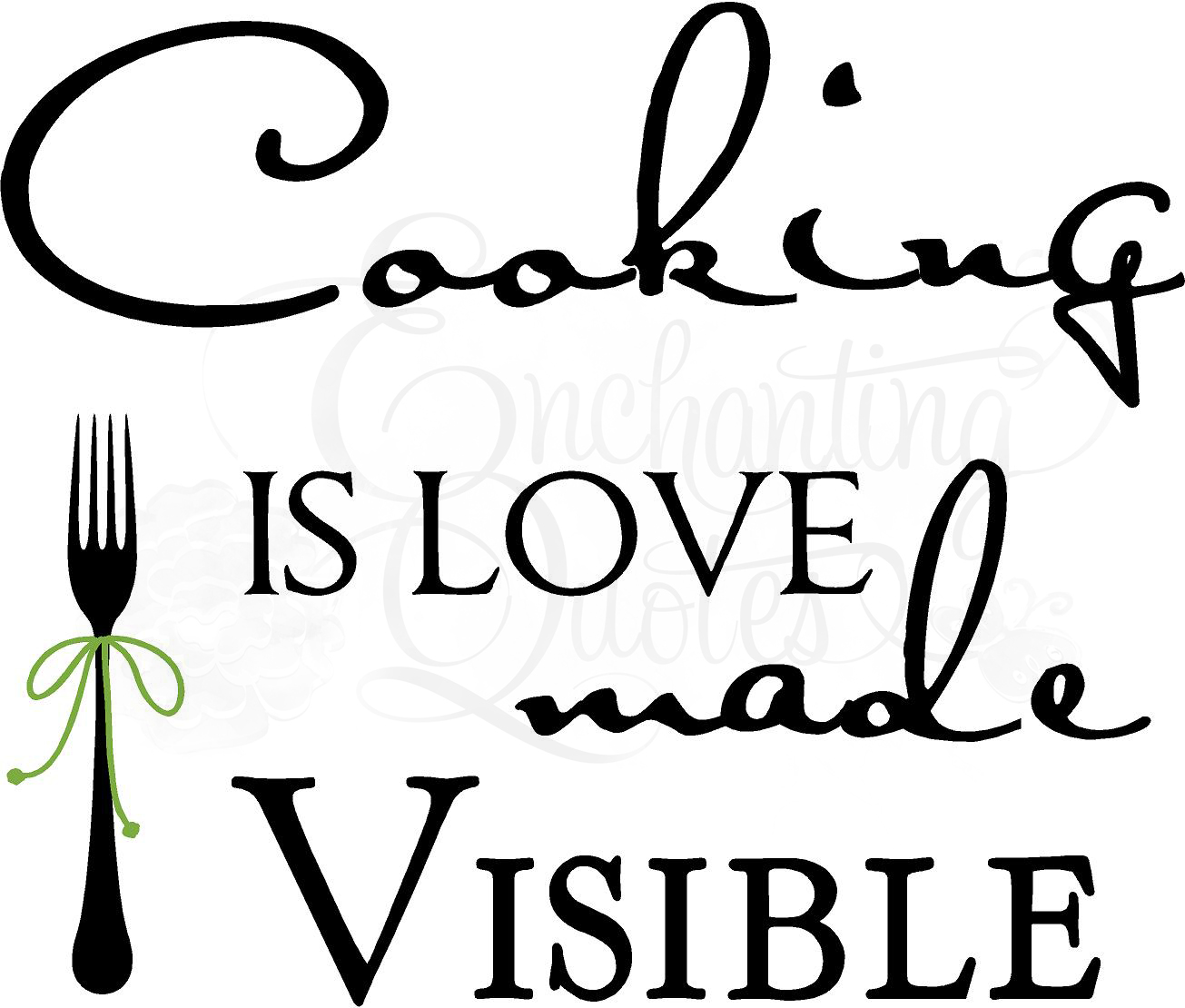 Kitchen Decals | Kitchen Wall Quotes Cooking is Love Made Visible
