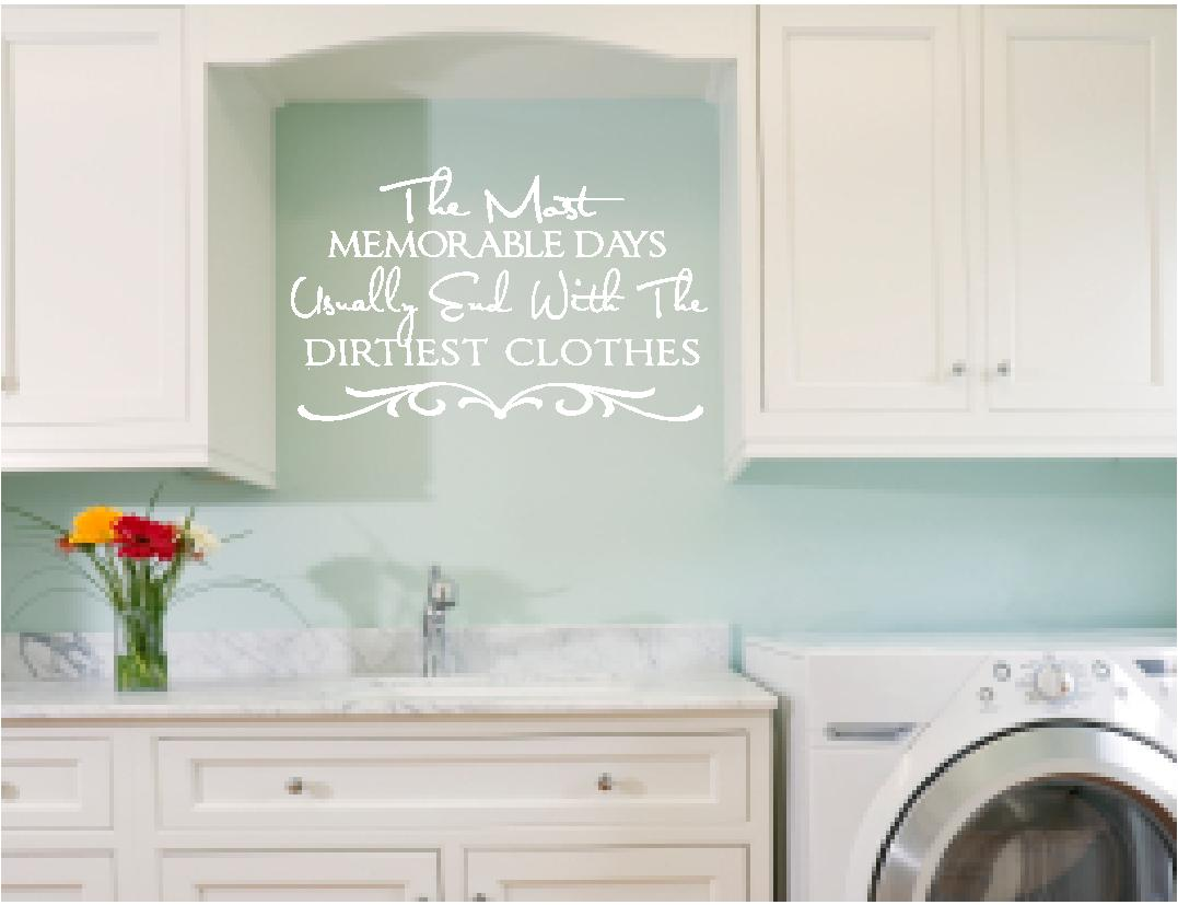 Laundry Room Vinyl Wall Quotes Magnificent Wall Quotes  Laundry Room Wall Decals  Dirty Clothes Inspiration Design