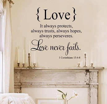 Vinyl Love Quotes Enchanting Vinyl Wall Quotes  Bedroom Quotes  Love Never Fails Decal