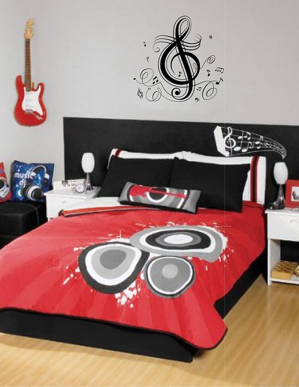 Vinyl Wall Decals Musical Notes Stickers For Teens Rooms