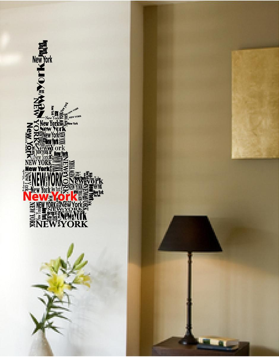 New York Statue Of Liberty. Vinyl Wall Art ...