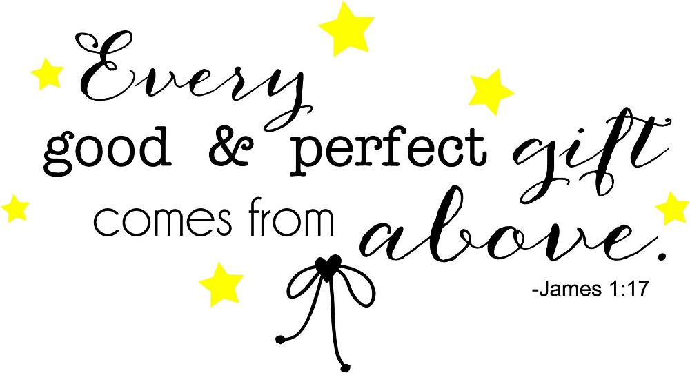 Every good perfect gift comes from above nursery quote every good and perfect gift nursery wall quote negle Choice Image