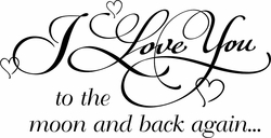 Love You To The Moon Nursery Wall Quote