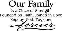 Our Family is a Circle of Love