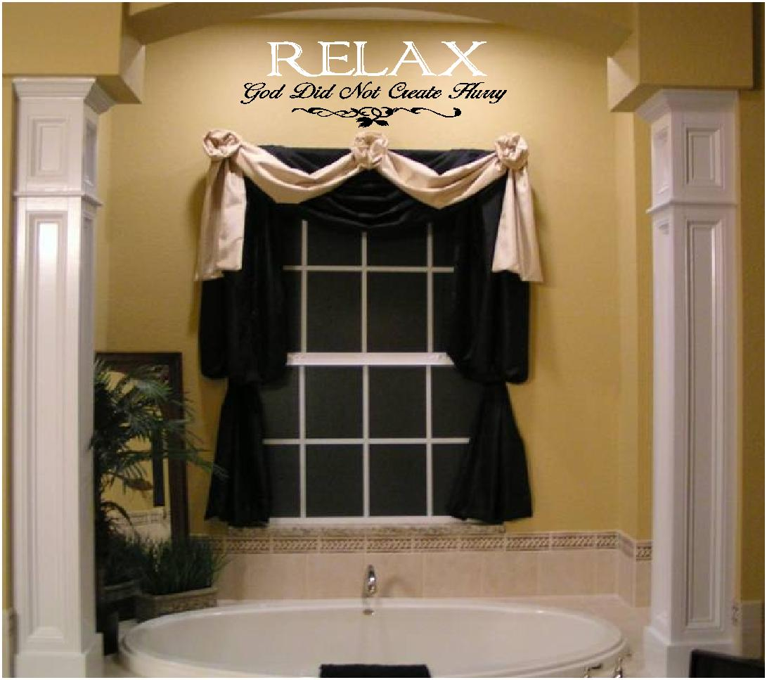 Beautiful Bathroom Quotes bathroom quotes about relaxation, vinyl wall decals, words