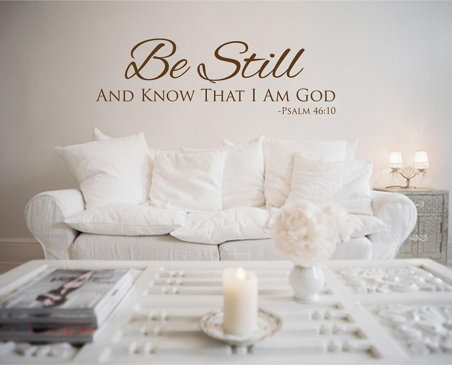 Psalm Be Still Religious Wall Quotes Vinyl Wall Sayings - Wall decals christian