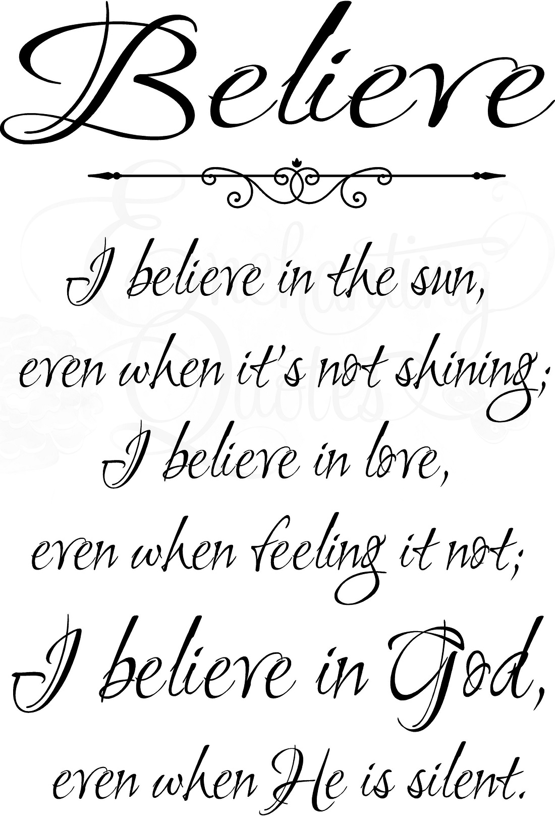 Religious Quotes About Love Stunning Religious Wall Quotes  Christian Wall Decals I Believe In Sun