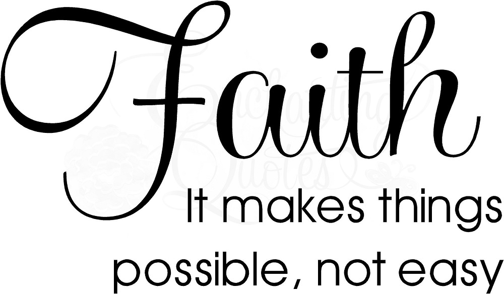 Religious Quotes About Faith Gorgeous Religious Quotes  Vinyl Wall Decals Faith Makes Things Possible